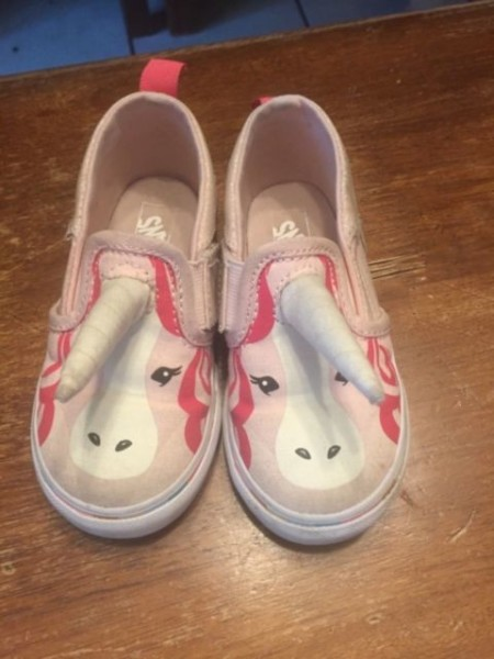 Vans Asher V Pink Unicorn With Horn Sneakers Size 7 5 Toddler For