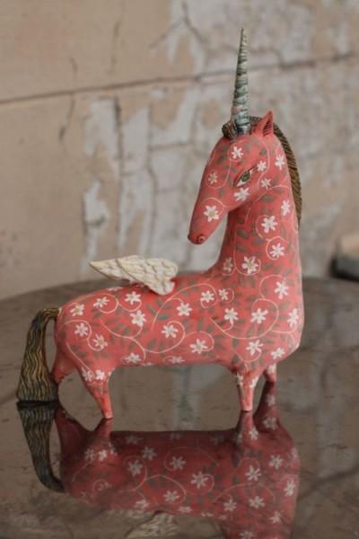 Winged Unicorn  Sculpture By Elya Yalonetski
