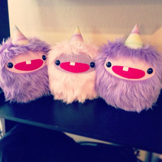 Yeti Unicorn Monster Plush By Shliikawaii On Etsy, $35 00
