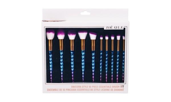 Zoe Ayla Unicorn Style Essentials Brush Set (10