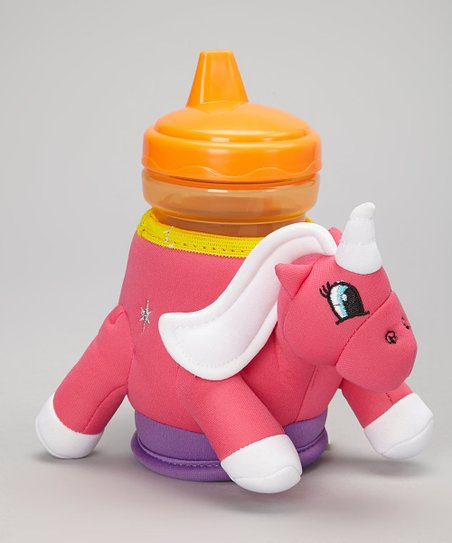Zoomoos Sparkle The Unicorn Insulated Cup Holder & Sippy Cup