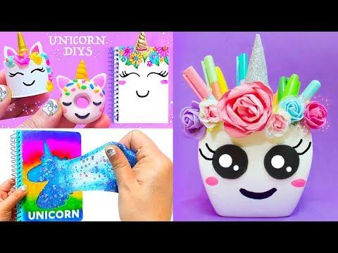10 Diy Unicorn School Supplies For Back To School 2018