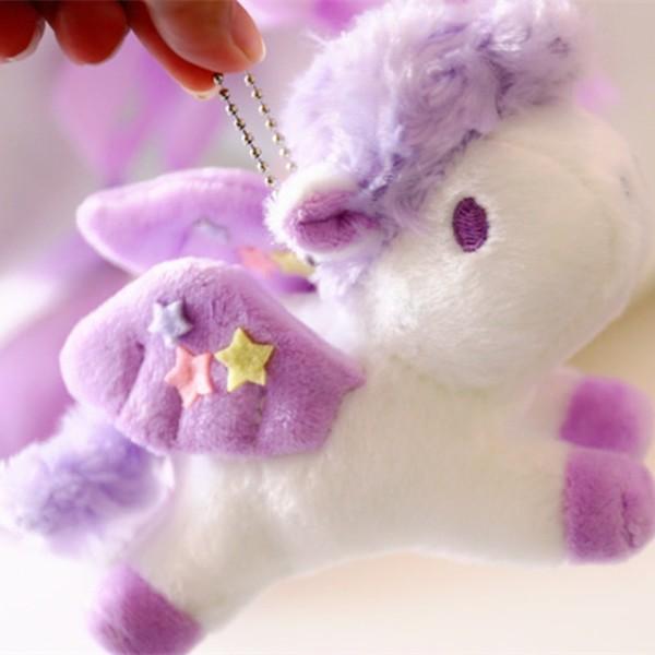 1pc 15cm Kawaii Plush Unicorn With Wings Toys Stuffed Unicorn