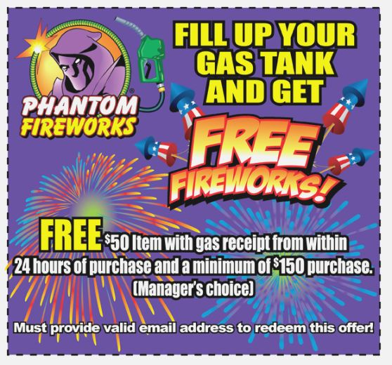 35 Priceless Phantom Fireworks Coupons Printable