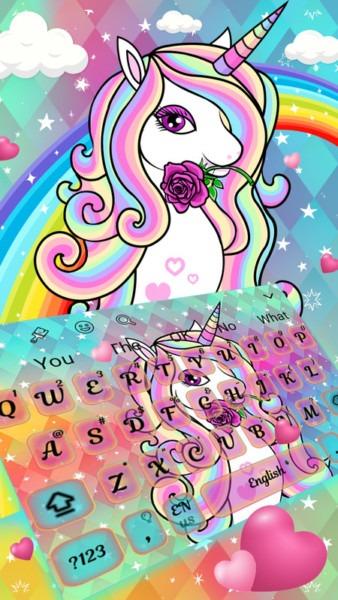3d Rainbow Unicorn 🦄 Keyboard Theme Free Android Theme Download