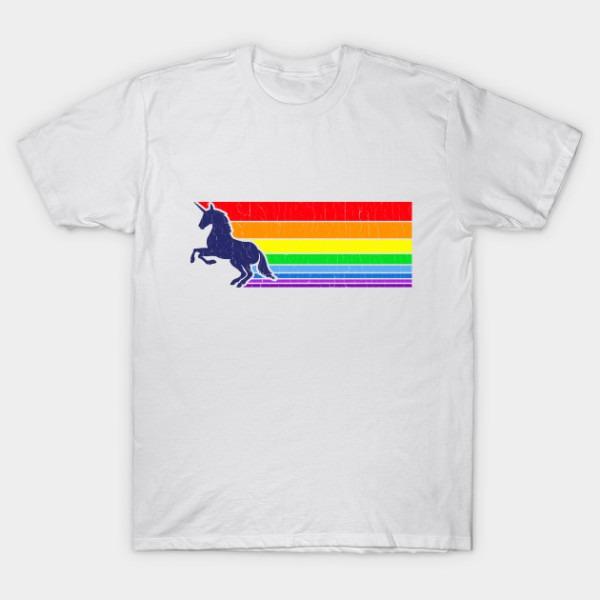 80s Vintage Unicorn Rainbow (distressed Look)