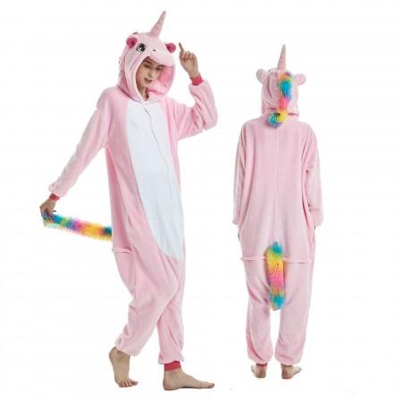 Adult Pink Unicorn Onesie Cute Animal Pajamas On Sale