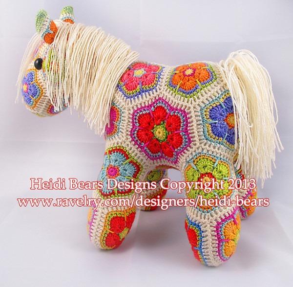 African Flower Unicorn Crochet Pattern