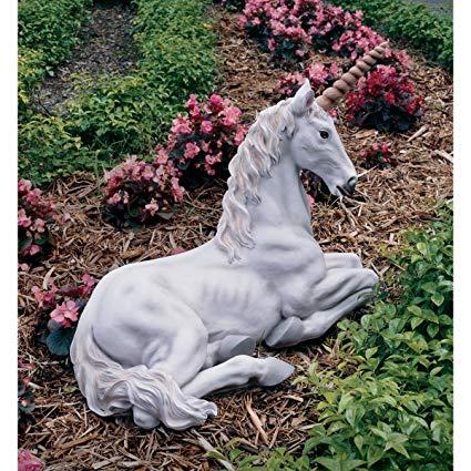 Amazon Com  24 5  Mystical Unicorn Home Garden Sculpture Statue