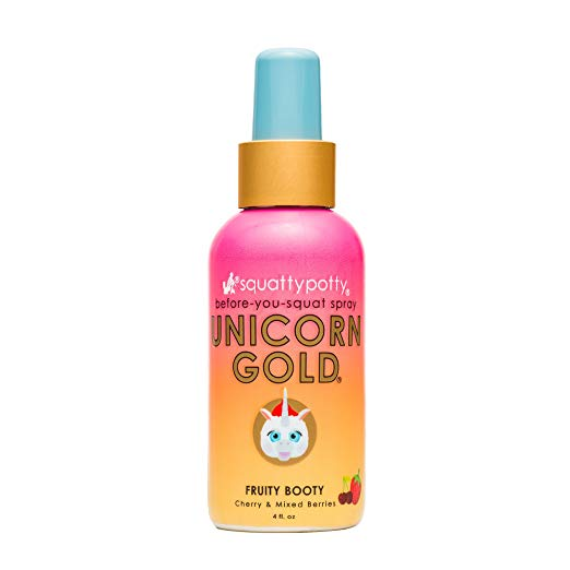 Amazon Com  4 Fl Oz  Squatty Potty Unicorn Gold Toilet Spray