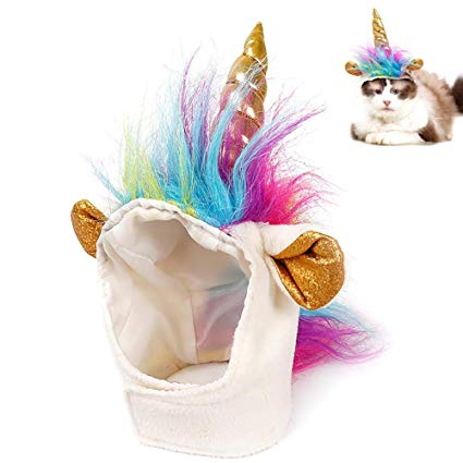 Amazon Com   Ausein Pet Unicorn Hat For Cats Kitty Small Dog Puppy