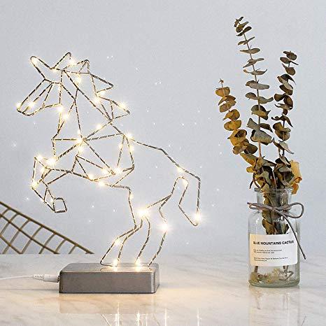 Amazon Com   Fanshunlite Unicorn Led Usb Bedside Table & Desk Lamp
