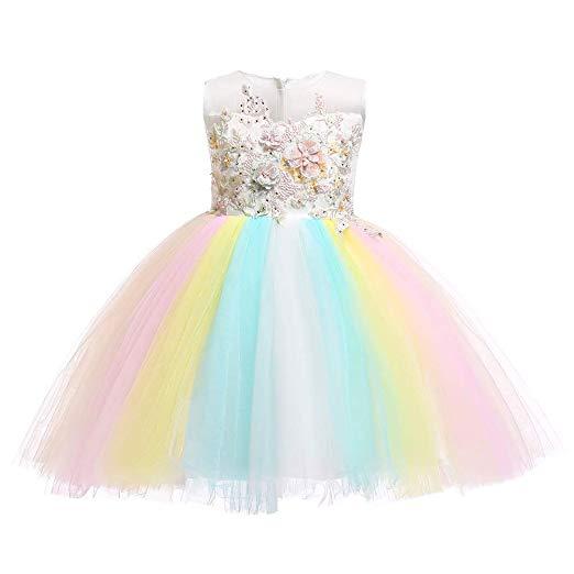 Amazon Com  Baby Girls Flower Unicorn Fairy Costume Princess