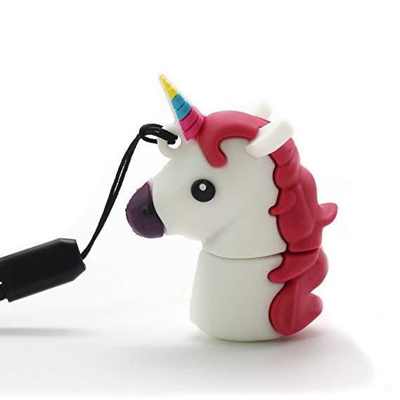 Amazon Com  Dbigness Novelty Cartoon Unicorn Pvc Usb Flash Drive