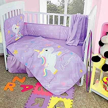 Amazon Com  Dpw Unicorn Cute Crib Baby Bedding Set Decoration