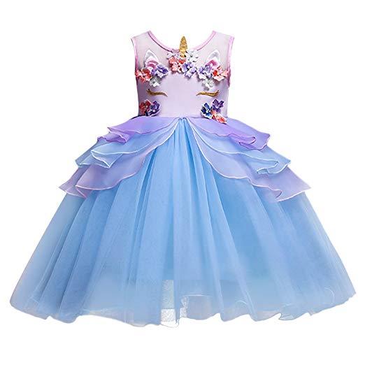 Amazon Com  Fymnsi Baby Girls Toddler Unicorn Birthday Dress