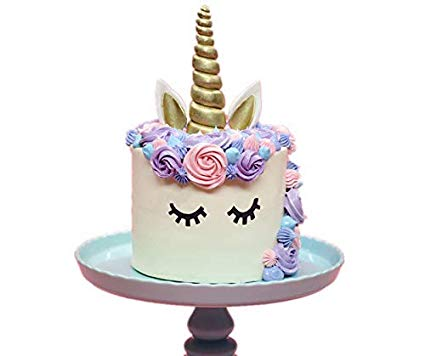 Amazon Com  Giga Gud Unicorn Cake Topper, Gold Unicorn Horn,ears