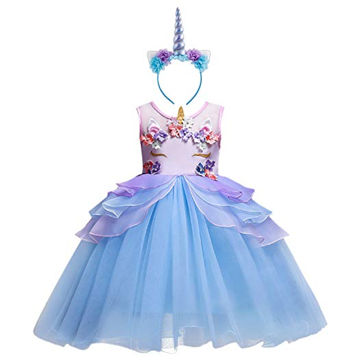 Amazon Com  Girl Unicorn Costume Cosplay Fancy Dress Up Birthday