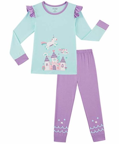 Amazon Com  Girls Pajamas Unicorn Pjs 2 Piece 100  Super Soft