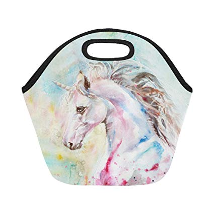 Amazon Com  Interestprint Insulated Lunch Tote Bag Watercolor