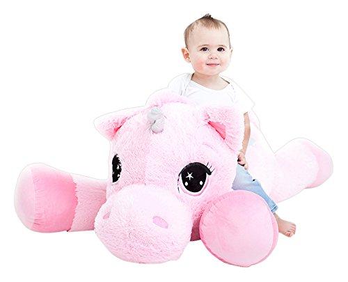 Amazon Com  Jumbo Plush Animal, Large 47  Unicorn Stuffed Animal