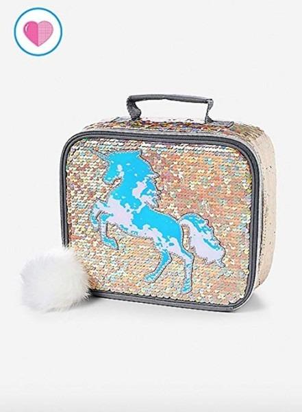 Amazon Com  Justice Lunch Tote Bag Flip Sequin Gold Unicorn  Toys