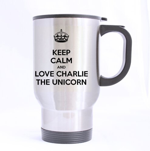Amazon Com  Novelty Design Keep Calm And Love Charlie The Unicorn