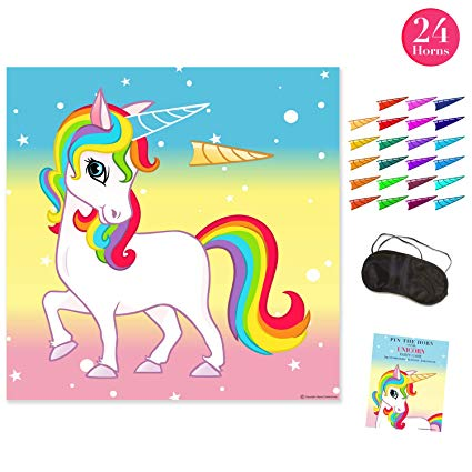 Amazon Com  Pin The Horn On The Unicorn Party Game