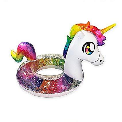 Amazon Com  Pool Candy Glitterfied Rainbow Unicorn Pool Float