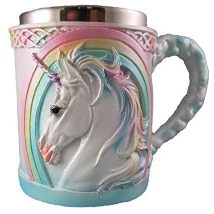Amazon Com  Rainbow Unicorn Coffee Mug, Cute Mythical Tea Cup