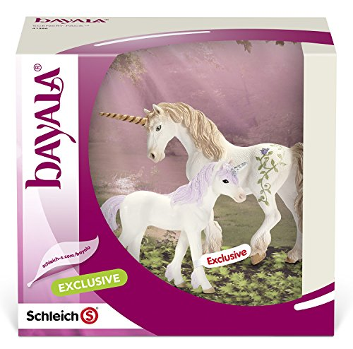 Amazon Com  Schleich Unicorn Family Scenery Pack  Schleich  Toys