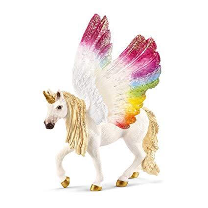 Amazon Com  Schleich Winged Rainbow Unicorn  Toys & Games