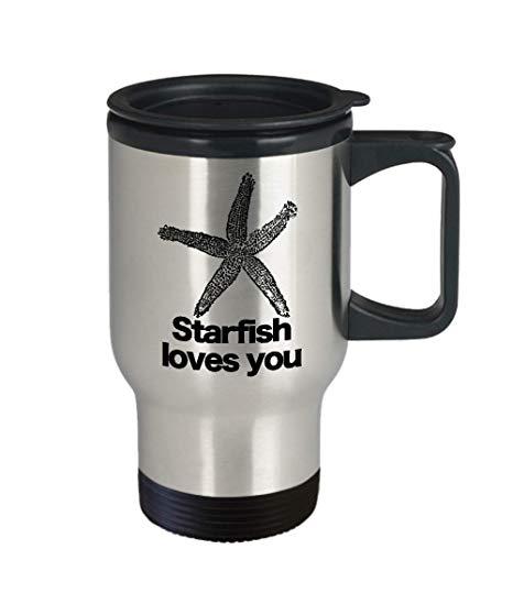Amazon Com  Starfish Loves You Mug Travel Coffee Cup Funny Gift