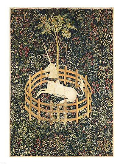 Amazon Com  The Unicorn In Captivity Framed Art Print Wall Picture