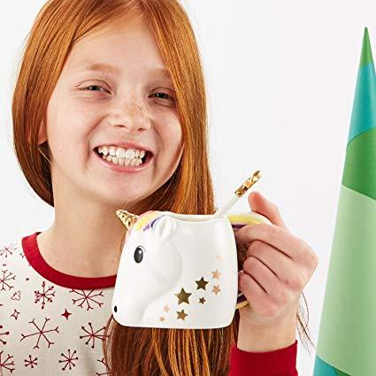 Amazon Com  Two's Company 42941 Be A Unicorn Mug With Metallic