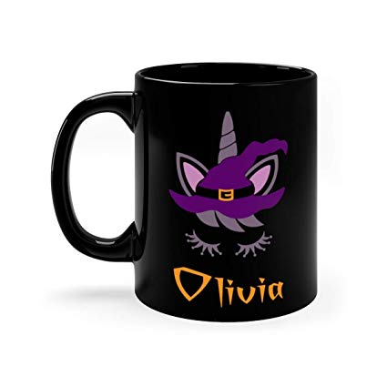 Amazon Com  Unicorn Halloween Mug, Black Unicorn Mug, Personalized