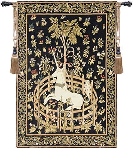 Amazon Com  Unicorn In Captivity European Tapestry  Kitchen & Dining