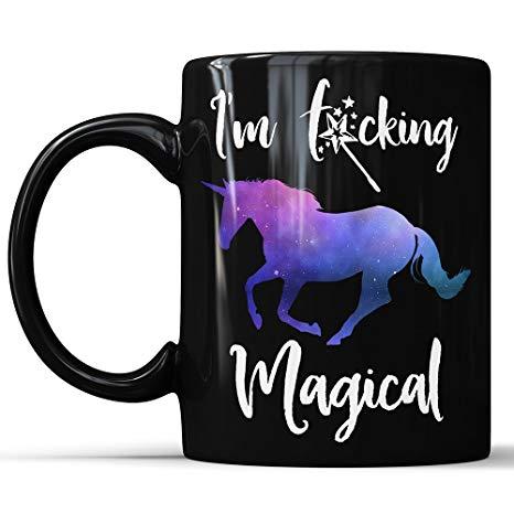 Amazon Com  Unicorn Mug I'm Fucking Magical Black Unicorn Mug