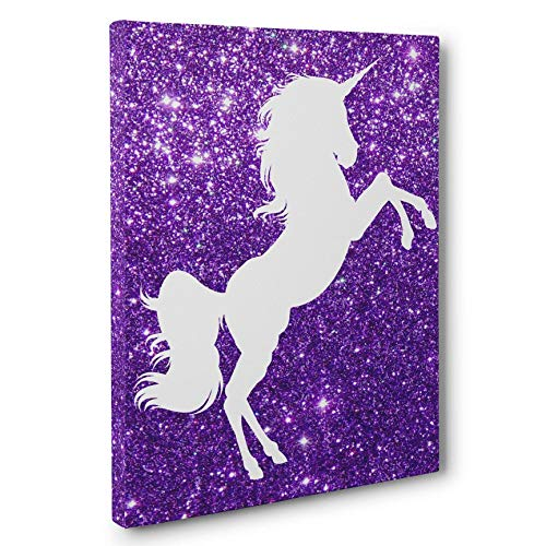 Amazon Com  Unicorn Purple Nursery Decor Canvas Wall Art  Handmade