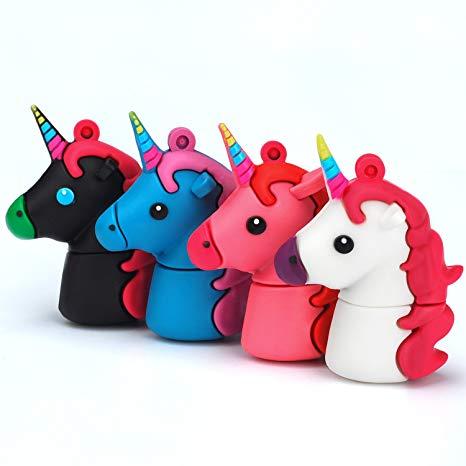 Amazon Com  Unicorn Usb Flash Drive 16gb Pack Of 4 Pendrives Kids