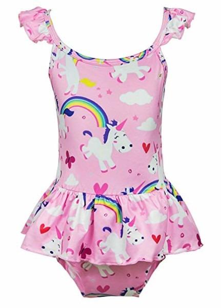 Amazon Com  Wenge Girls Bathing Suits Rainbow Unicorn Swimsuits
