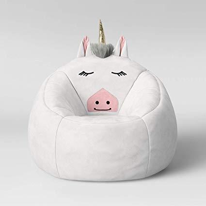 Amazon Com  White Unicorn Children's Bean Bag Chair  Kitchen & Dining