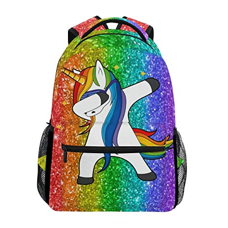 Amazon Com  Wxlife Rainbow Glitter Galaxy Unicorn Backpack Travel