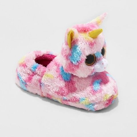 Beanie Boos Girls' Ty Beanie Boos Fantasia Unicorn Slippers