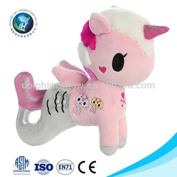 Beautiful Pink Mermaid Unicorn Plush Toy Promotional Custom Logo