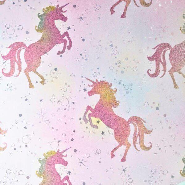 Bedazzled Unicorn Glitter Wallpaper