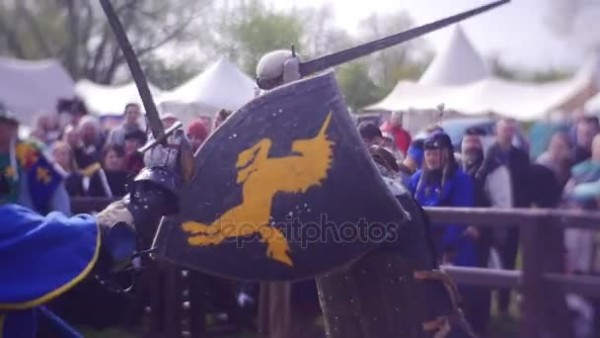 Black Shield With A Gold Unicorn — Stock Video © Depositphotos