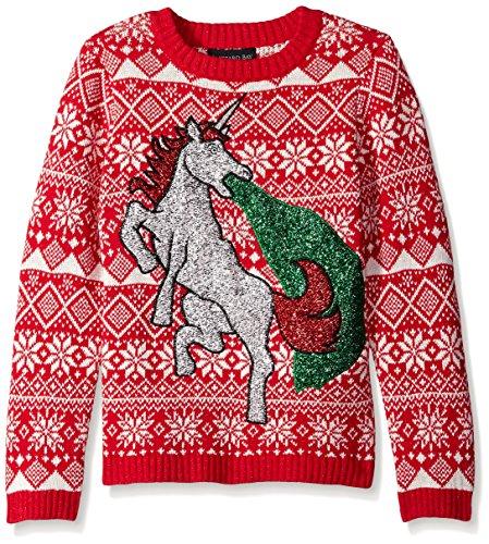 Blizzard Bay Boys' Glitter Vomit Unicorn Sweater