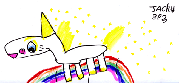 Buttercup The Unicorn (from Toy Story 3) Jumping Over A Rainbow
