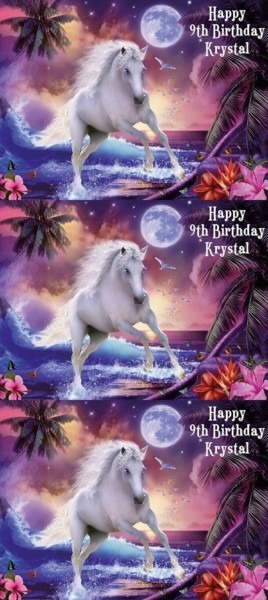 Cake Toppers 183341  Unicorn Edible Premium Icing Party Birthday